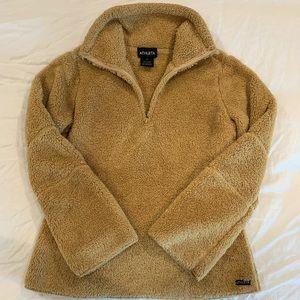 Athleta teddy bear quarter zip pullover